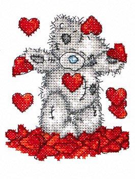 вышивка крестиком, вышивка крестиком мишки Тедди, вышивка me to you...