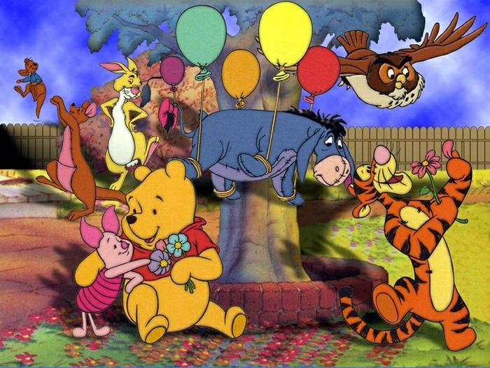 Открытки для детей с героями мультфильмов