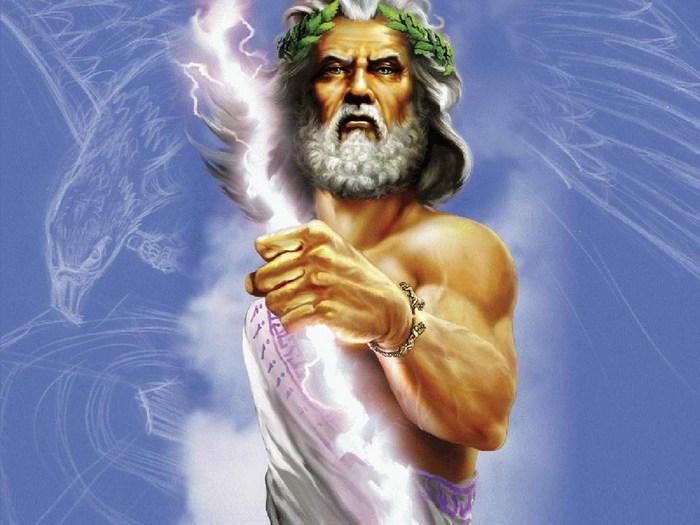 Древнегреческий бог грома и молнии