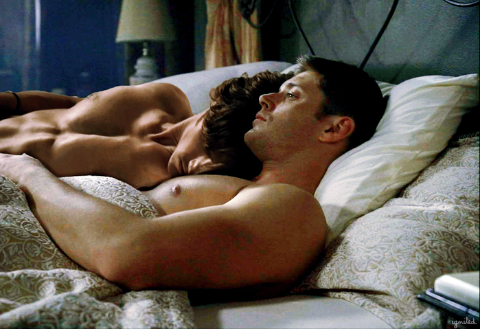 Jensen ackles licking pussy, naked woman shy