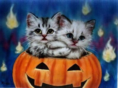 Кошачий хеллоуин: предпросмотр.