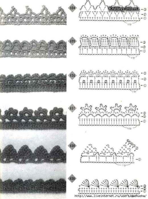 Вязаные ажурные узоры крючком схемы и описание, джемпер регланом.