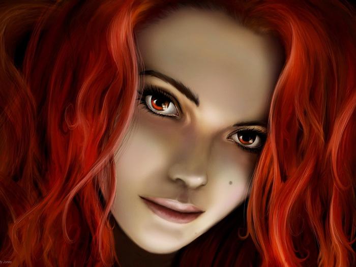 Рыжие рисованные девушки фото, русское видео секс с шалавами