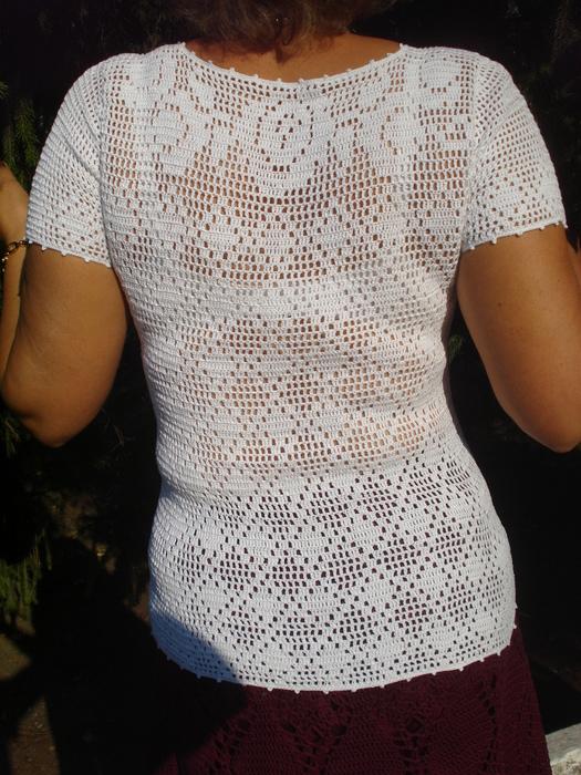 филейное вязание крючком схемы кофточки