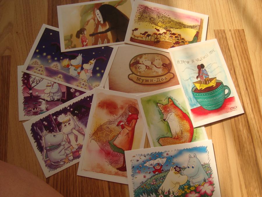 Новорожденной, художники почтовых открыток
