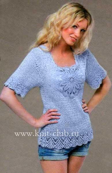 вязание крючком летние женские ажурные кофточки
