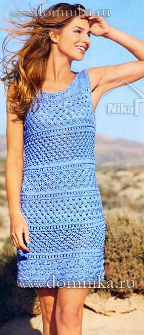 Платье секси крючком подробная схема вязания