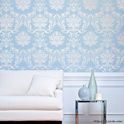 Damask-stencil-accent-wall (490x490, 146Kb)