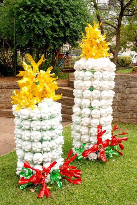 Что можно сделать из пластиковых бутылок своими руками для сада - Поделки, делаем самостоятельно