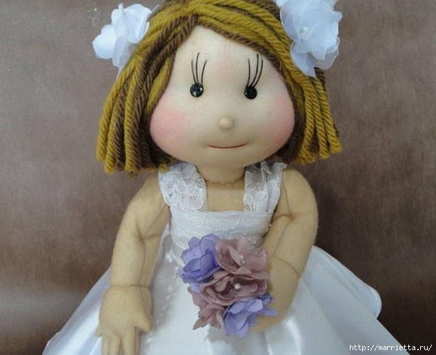 Кукла из капрона своими руками 26