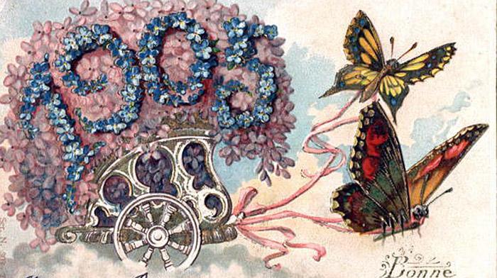 Новогодние открытки 1913 года, открытки своими руками