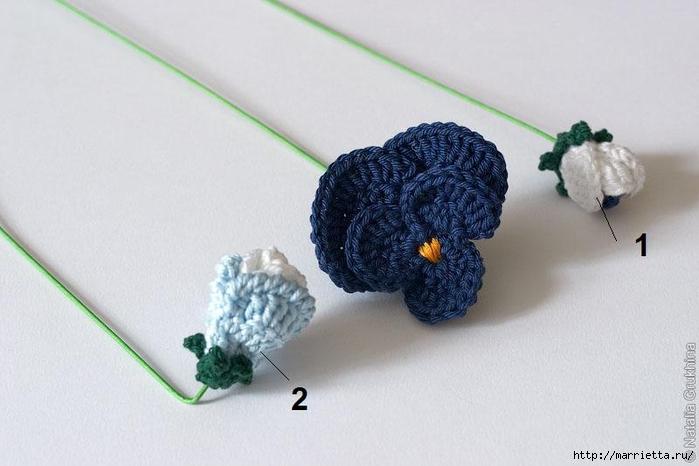 Анютины глазки крючком. Шторка для кухни и цветочная композиция (26) (700x466, 179Kb)