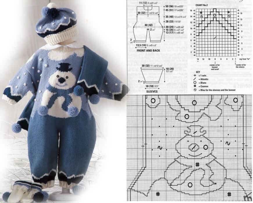 Вязаные костюмы для малышей спицами рисунки и схемы