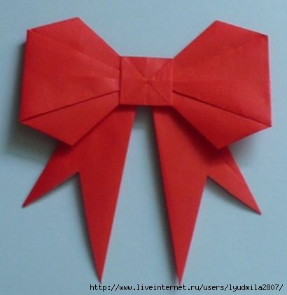 Origami Paper Bow Tutorial (410x421, 53Kb)
