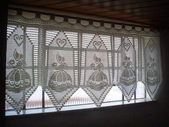 филейное вязание крючком схемы шторы занавески