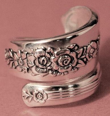 Как сделать кольцо из серебряной ложки (7) (387x407, 87Kb)