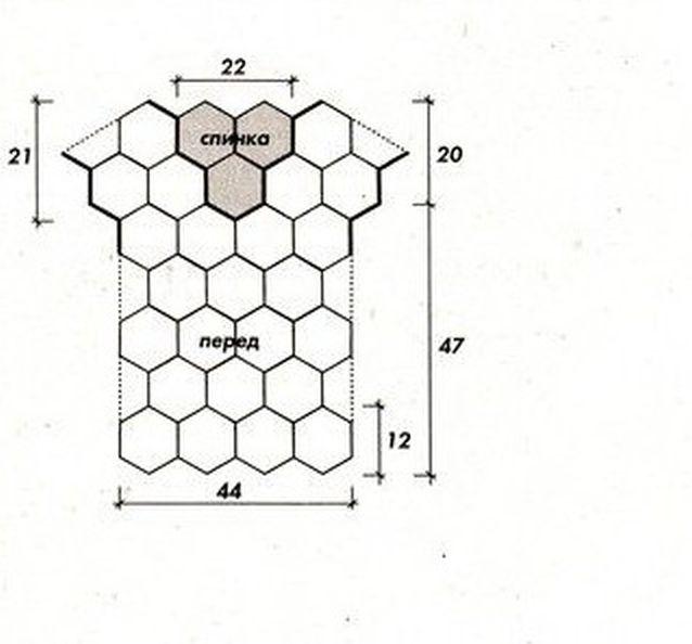 из мотивов схема шестиугольных платье