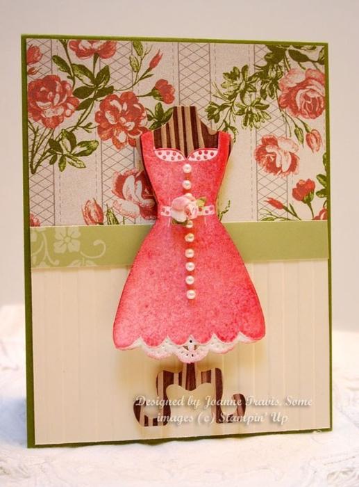 Создания, скрапбукинг открытки на 8 марта с платьями
