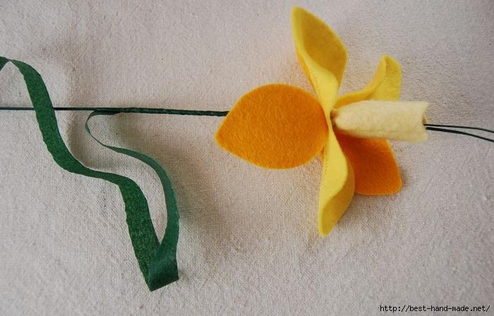 Яблоневый цветок из войлока мастер класс с фото #5