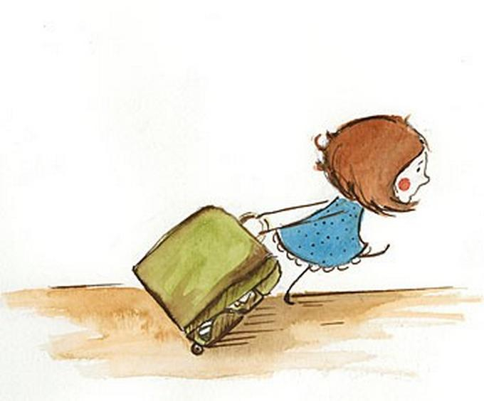 Мартом, чемодан картинка смешная