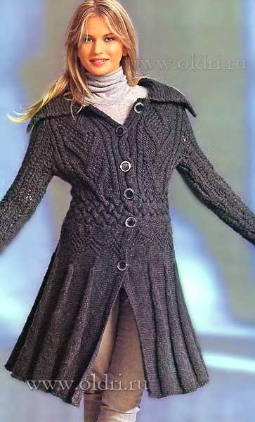 Вяжем женское пальто, кардиганы спицами Записи в рубрике Вяжем женское