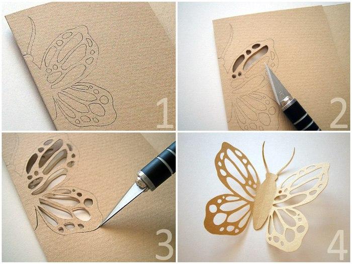 Как вырезать бабочку открытка своими руками, герои