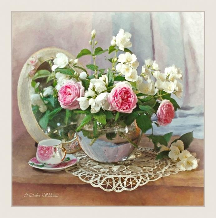 Натюрморты Розовые розы 520cfb129d30 (693x700, 293Kb)