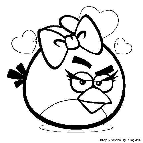 раскраски Angry Birds для детей обсуждение на Liveinternet