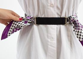 как сделать пояс-оби своими руками из платка