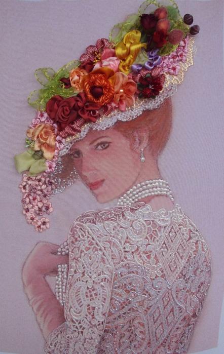лиру Татьяна вышивка лентами38 (442x699, 380Kb)
