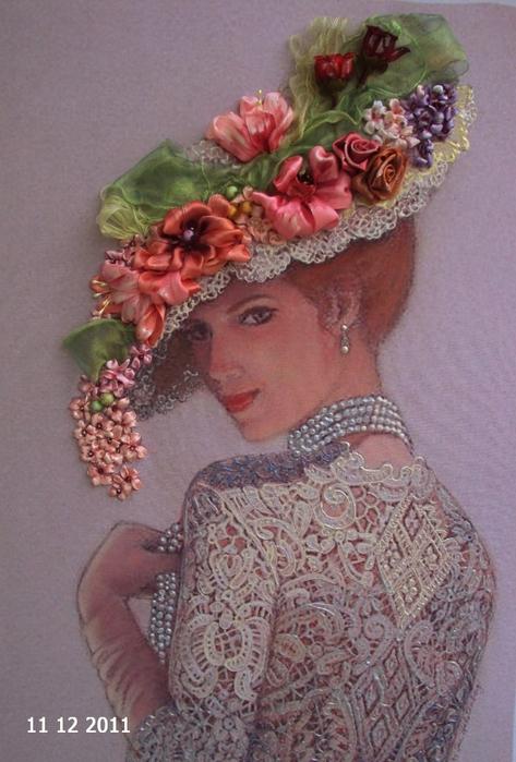 лиру Татьяна вышивка лентами28 (473x699, 389Kb)