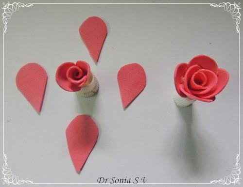 Роза из фоамирана шаблоны
