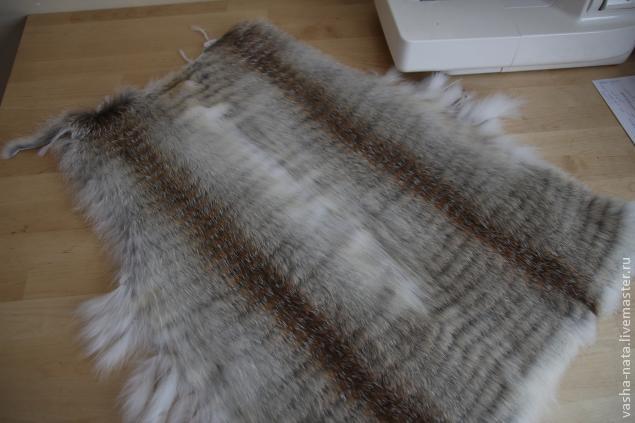 Вязание с натуральным мехом норки крючком