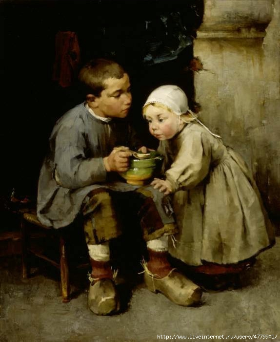 14_large_A_Boy_Feeding_his_Younger_Sister___1881 (574x700, 142Kb)