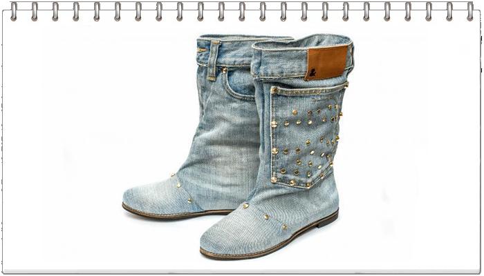Как сделать обувь из старых джинсов. Мастер класс