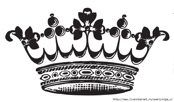 картинки черно белые корона