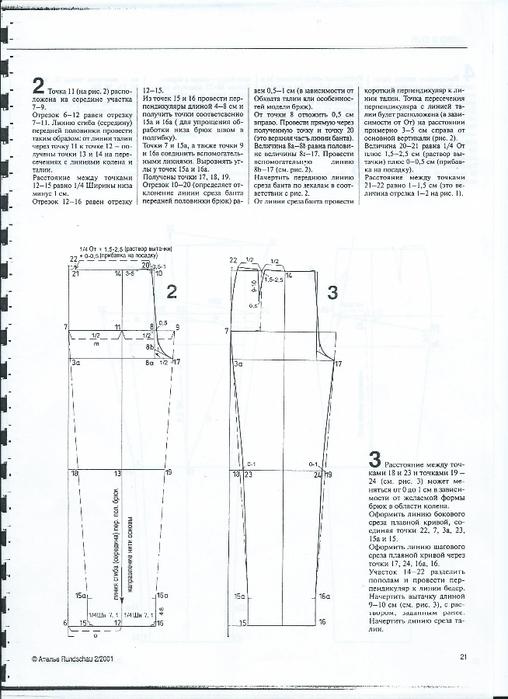 Мужские брюки построение выкройки по мюллеру