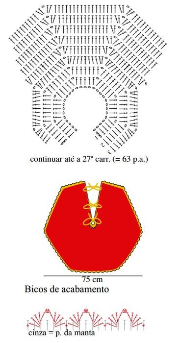 Новогоднее вязание крючком. Юбочка и подвески для елки (3) (369x700, 152Kb)