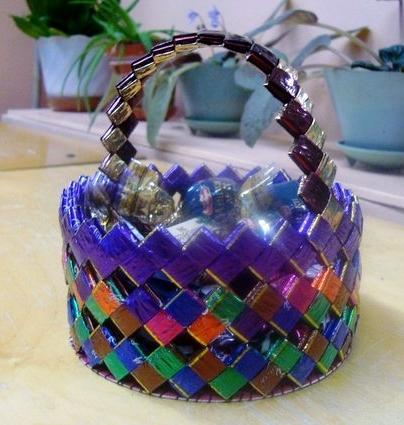 Поздравительные казанской, плетение корзин из открыток