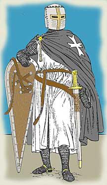 Член рыцарского ордена в средние века