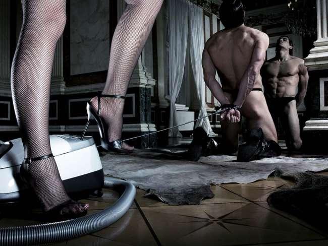 Фото про рабство парней у девушек
