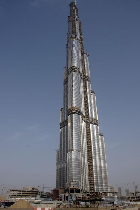 строительство burj dubai фото