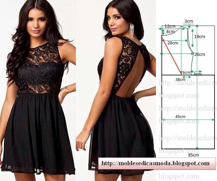 Сшить платье с открытой спиной