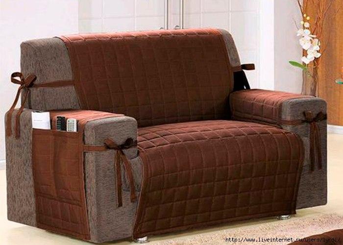 Съемные чехлы на диван своими руками 110