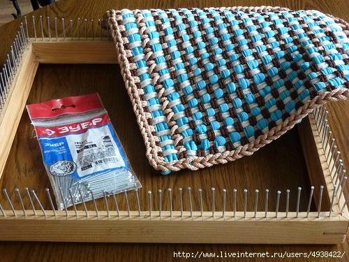 Плетение ковриков станке-рамке