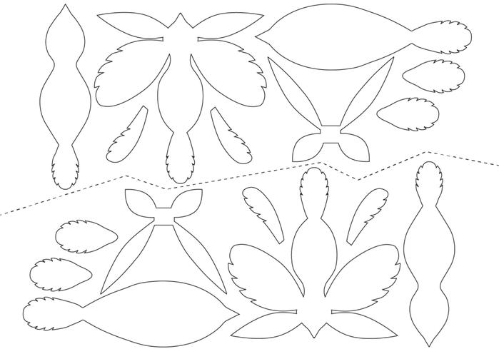 Новогоднее украшение на елку из бумаги. Птичка