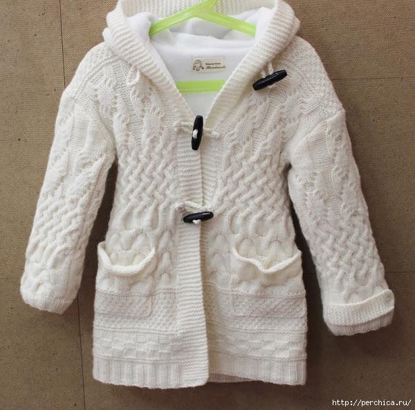 шикарное белое пальто от Gap спицами обсуждение на Liveinternet