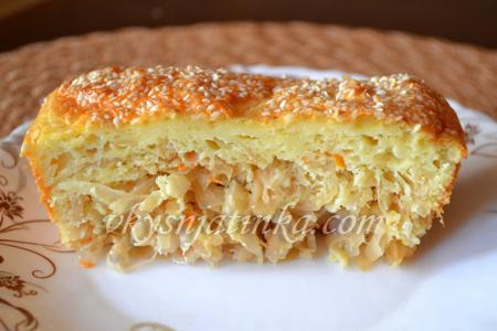 Пирог с кислой капустой рецепт