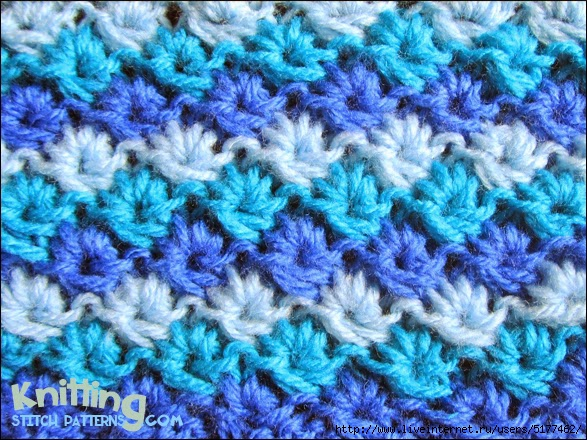 схемы вязания спицами двухцветных узоров