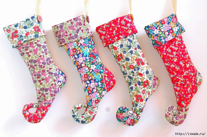 liberty print elf christmas stockings (700x464, 294Kb)